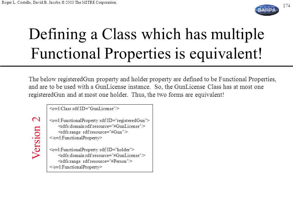 Defining a Class which has multiple Functional Properties is equivalent!