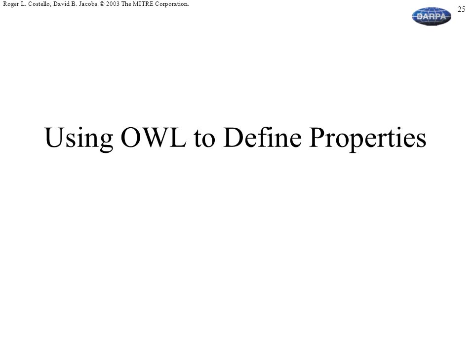 Using OWL to Define Properties