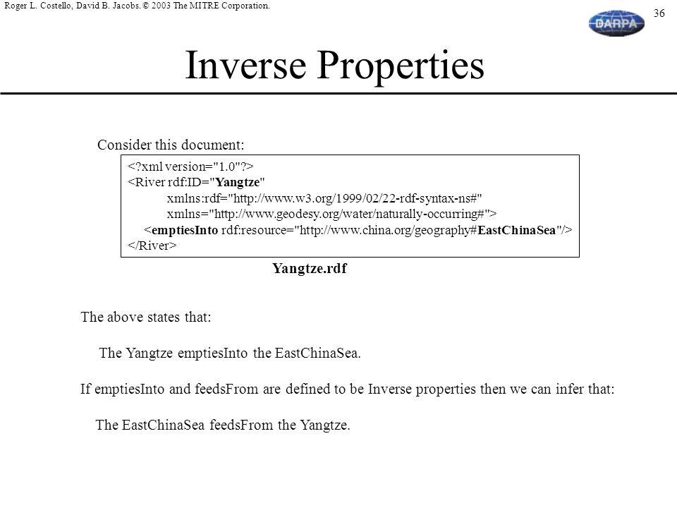 Inverse Properties Consider this document: Yangtze.rdf
