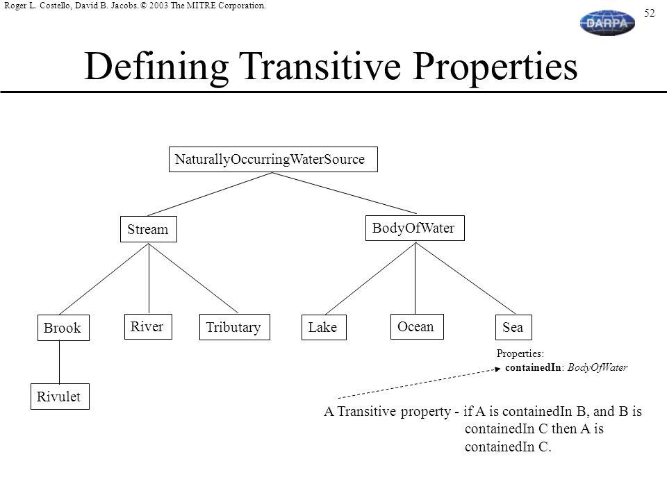 Defining Transitive Properties
