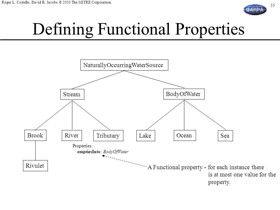 Defining Functional Properties