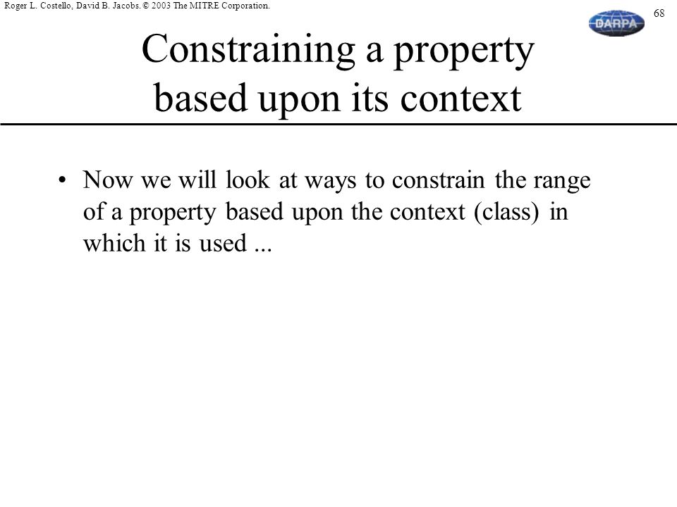 Constraining a property based upon its context