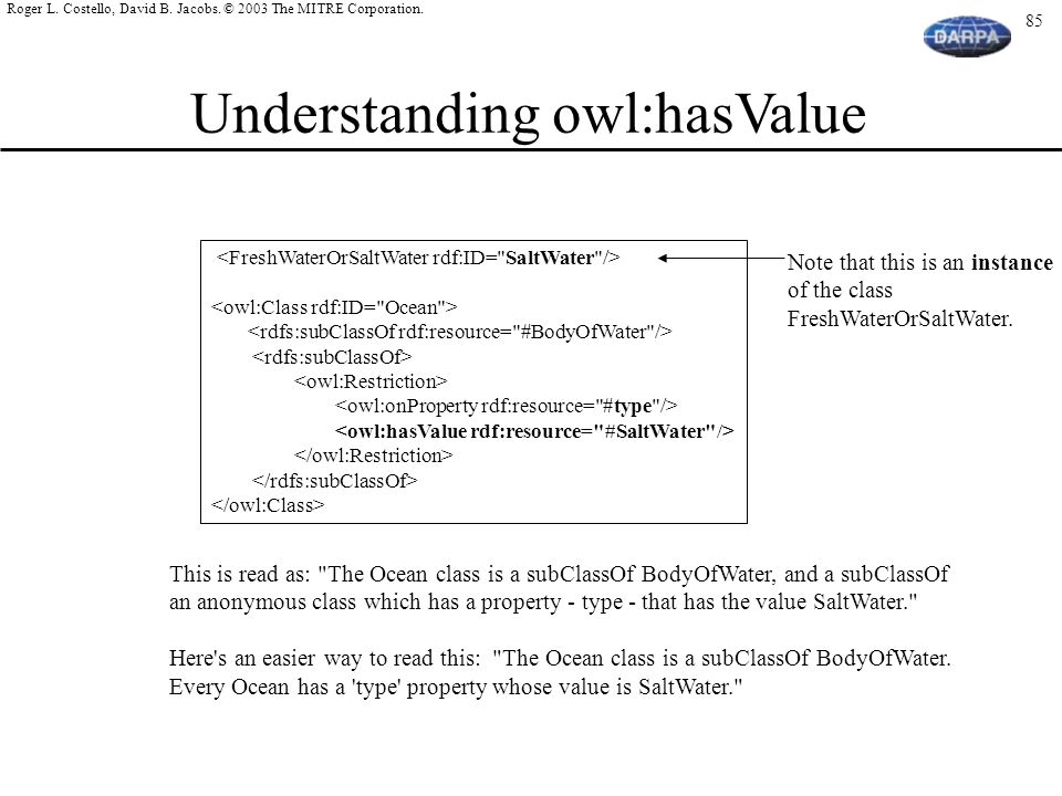 Understanding owl:hasValue