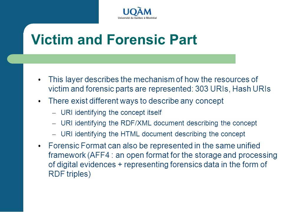 Victim and Forensic Part