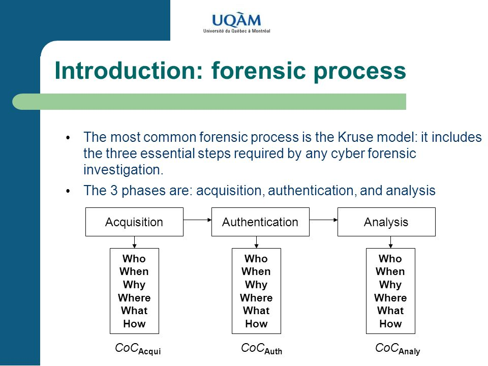 Introduction: forensic process