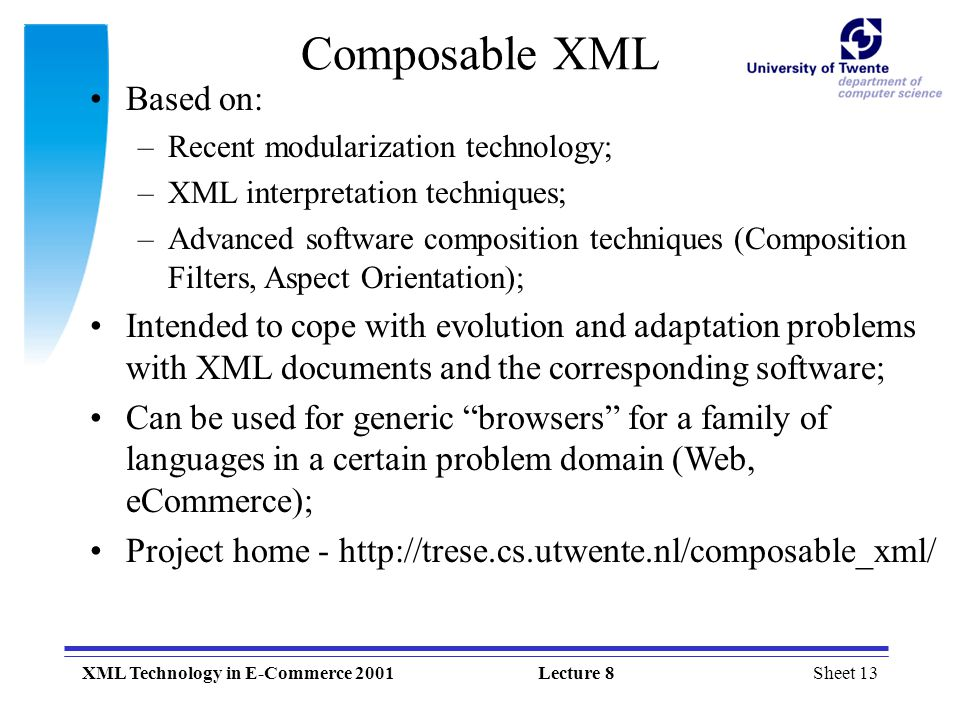 Composable XML Based on: