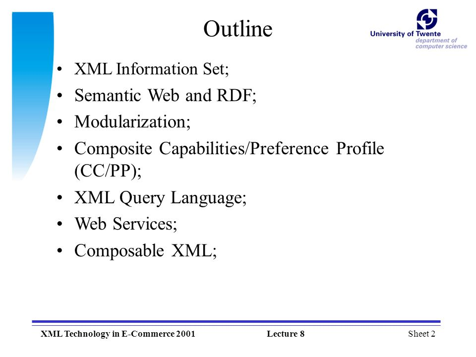 Outline Semantic Web and RDF; Modularization;