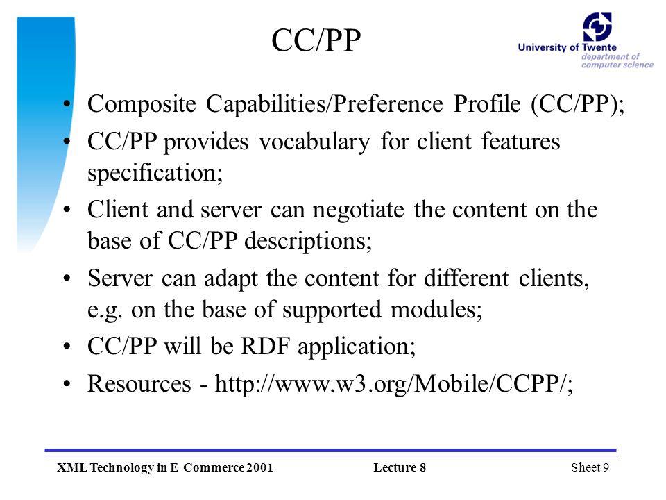 CC/PP Composite Capabilities/Preference Profile (CC/PP);