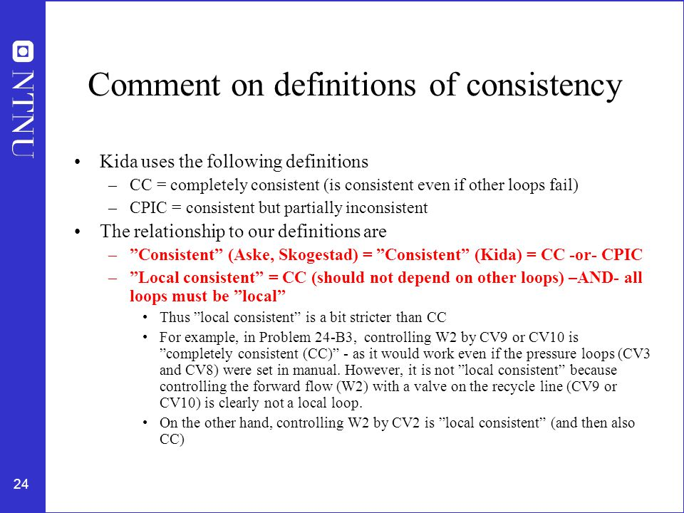 Comment on definitions of consistency