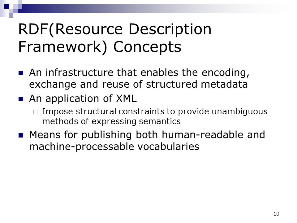 RDF(Resource Description Framework) Concepts