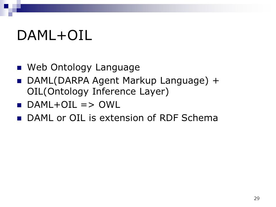 DAML+OIL Web Ontology Language