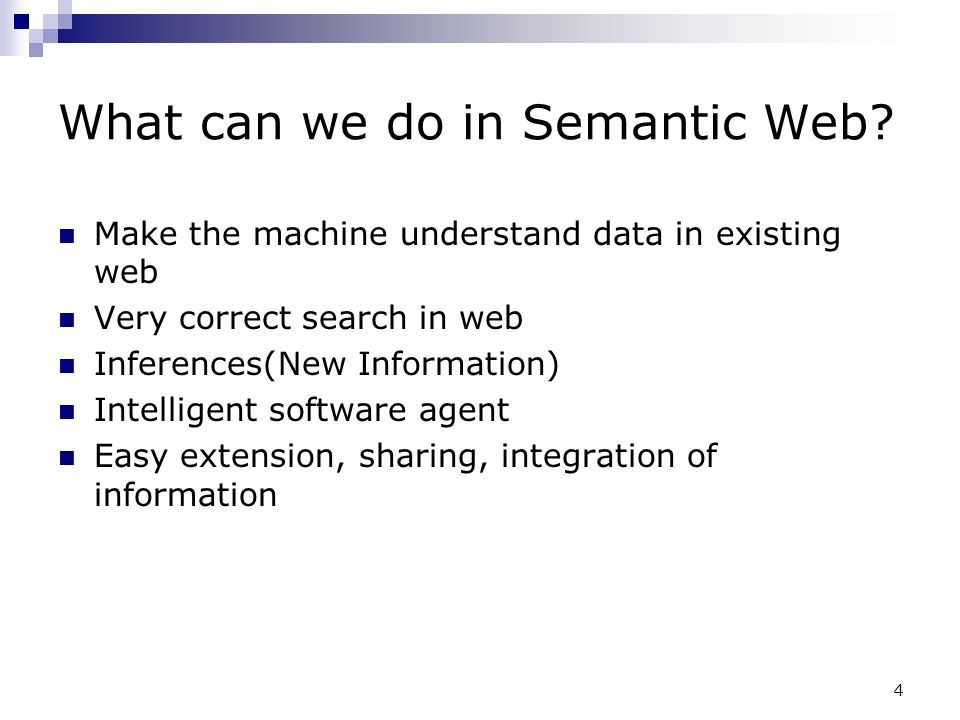 What can we do in Semantic Web