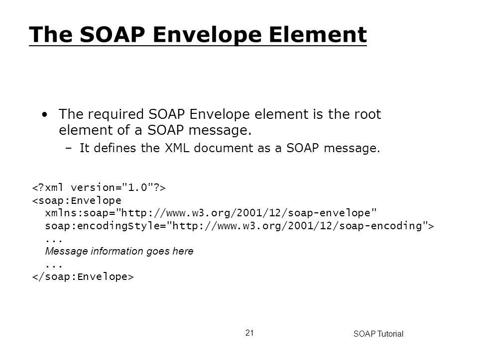 The SOAP Envelope Element
