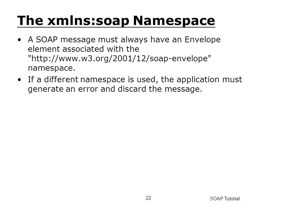 The xmlns:soap Namespace