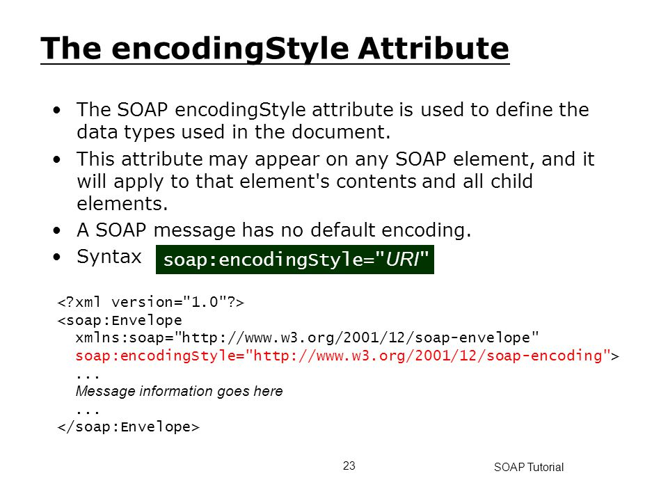 The encodingStyle Attribute