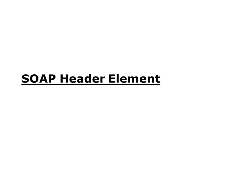 SOAP Header Element