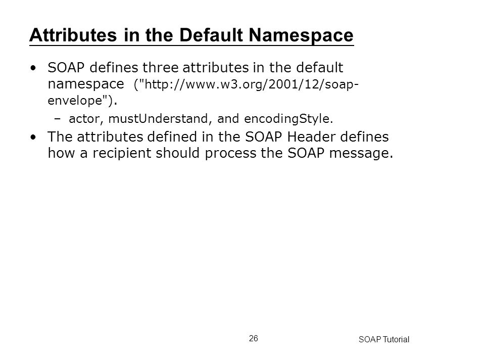 Attributes in the Default Namespace