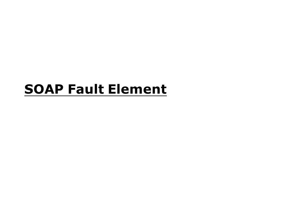 SOAP Fault Element