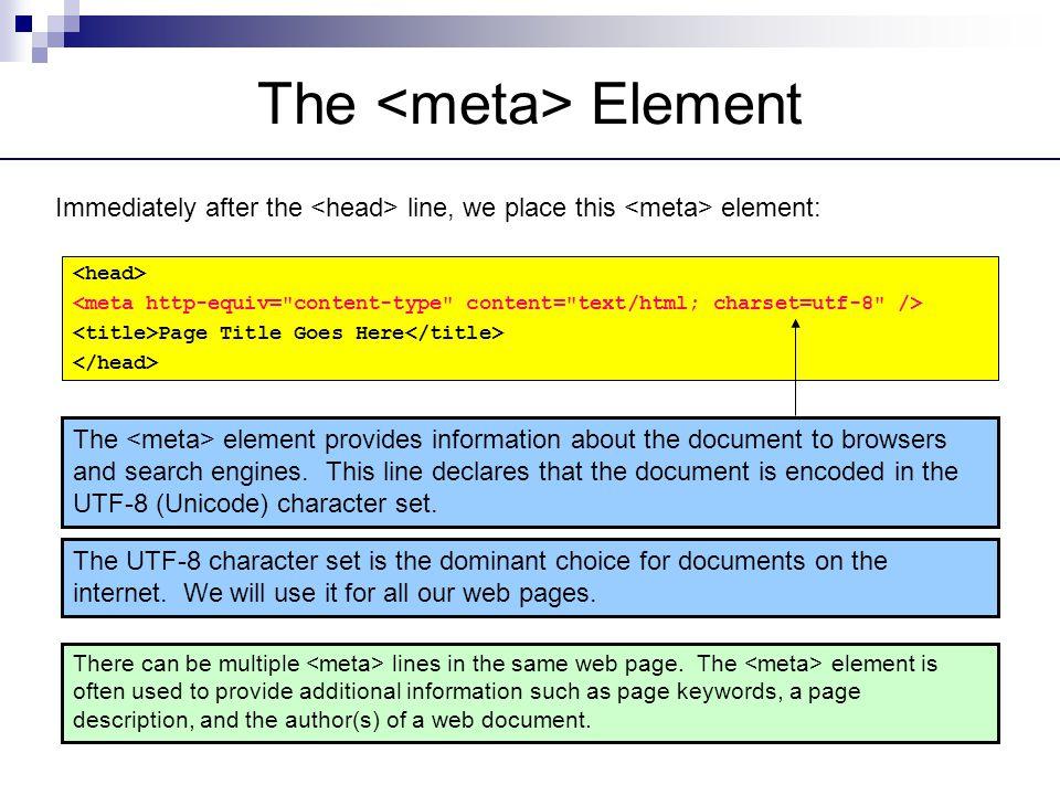 The <meta> Element