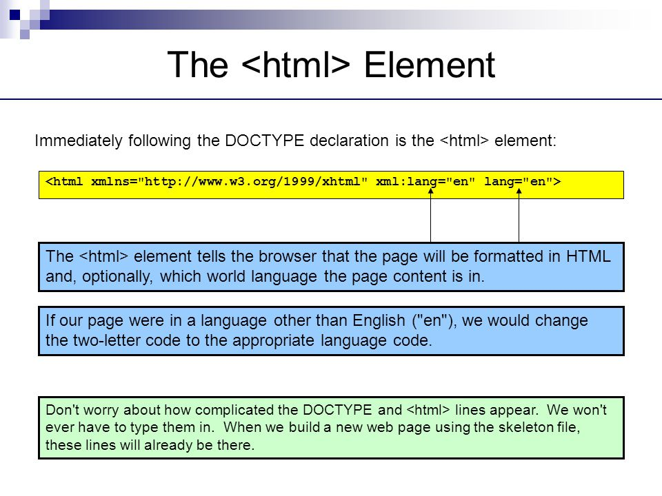 The <html> Element