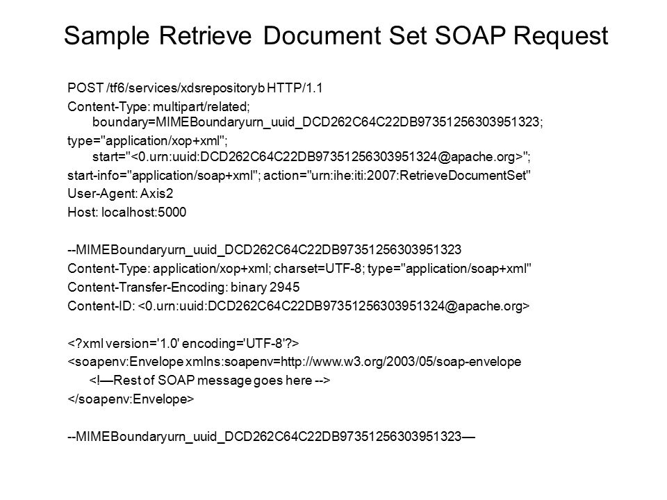 Sample Retrieve Document Set SOAP Request