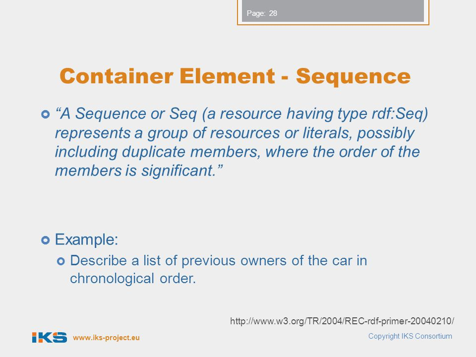 Container Element - Sequence