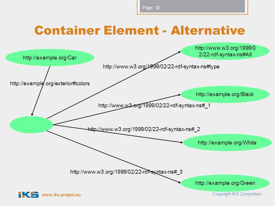 Container Element - Alternative
