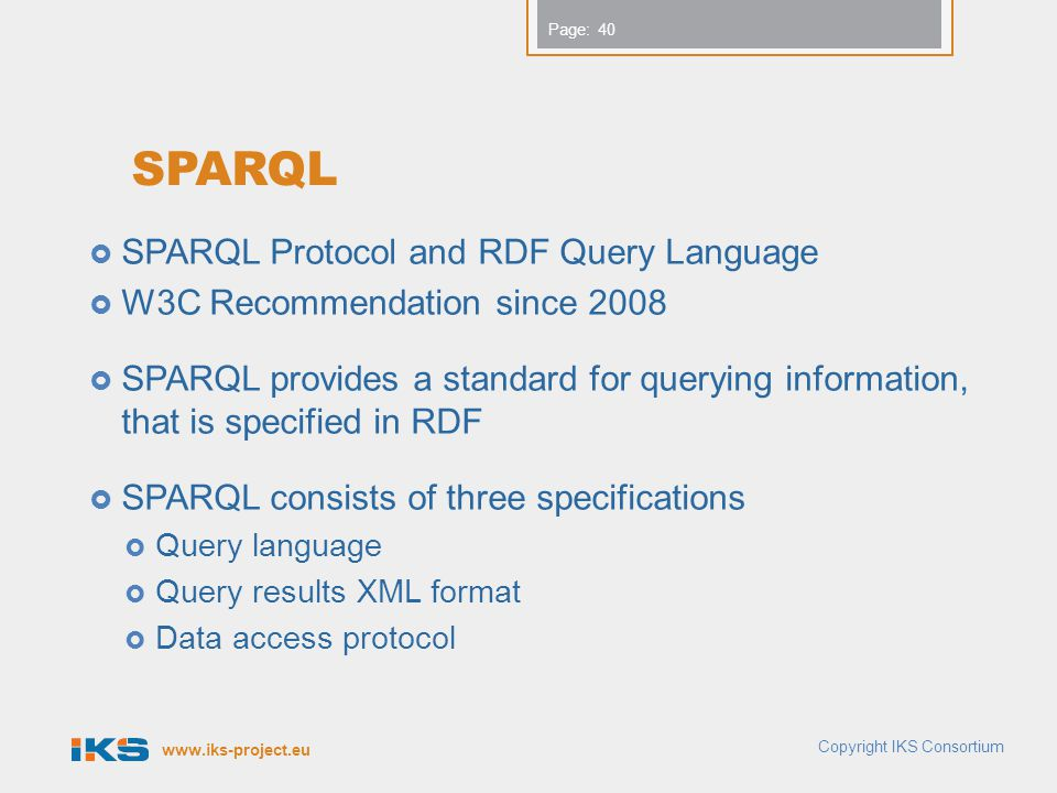 SPARQL SPARQL Protocol and RDF Query Language