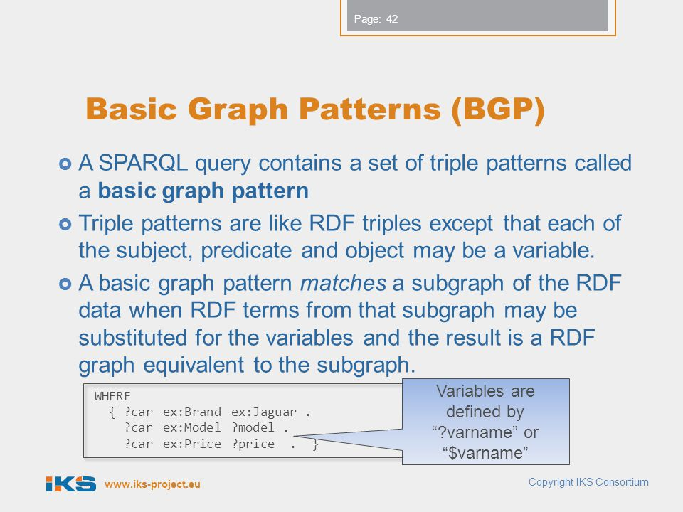 Basic Graph Patterns (BGP)