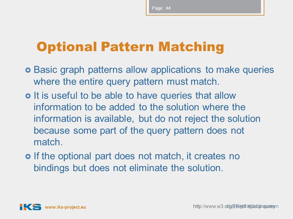 Optional Pattern Matching