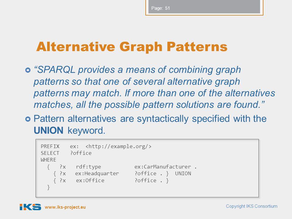 Alternative Graph Patterns