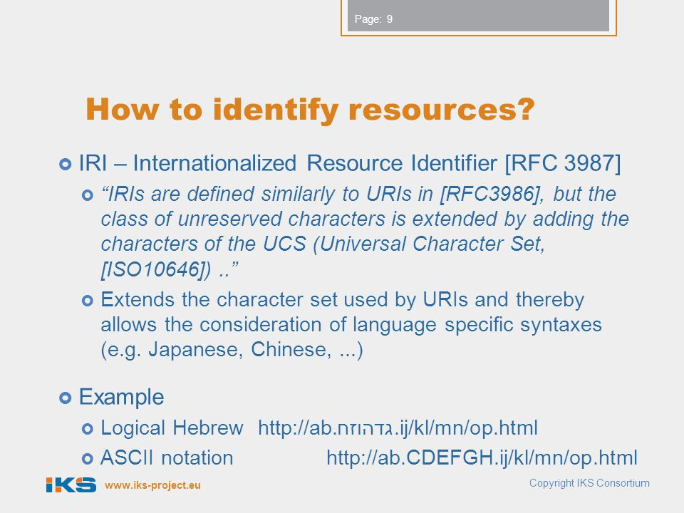 How to identify resources