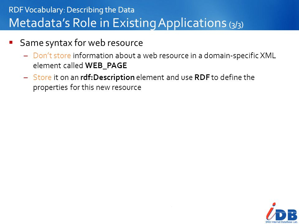 Same syntax for web resource