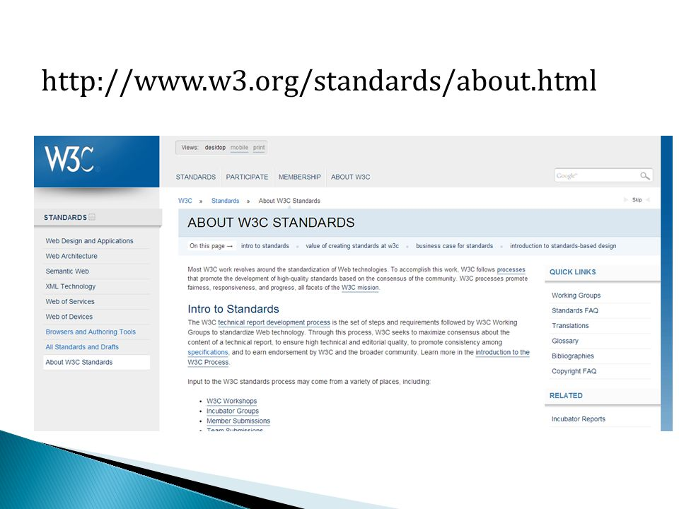 http://www.w3.org/standards/about.html