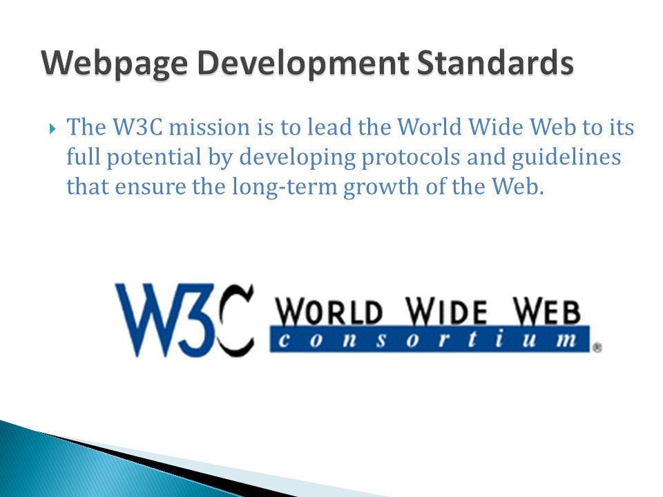 Webpage Development Standards