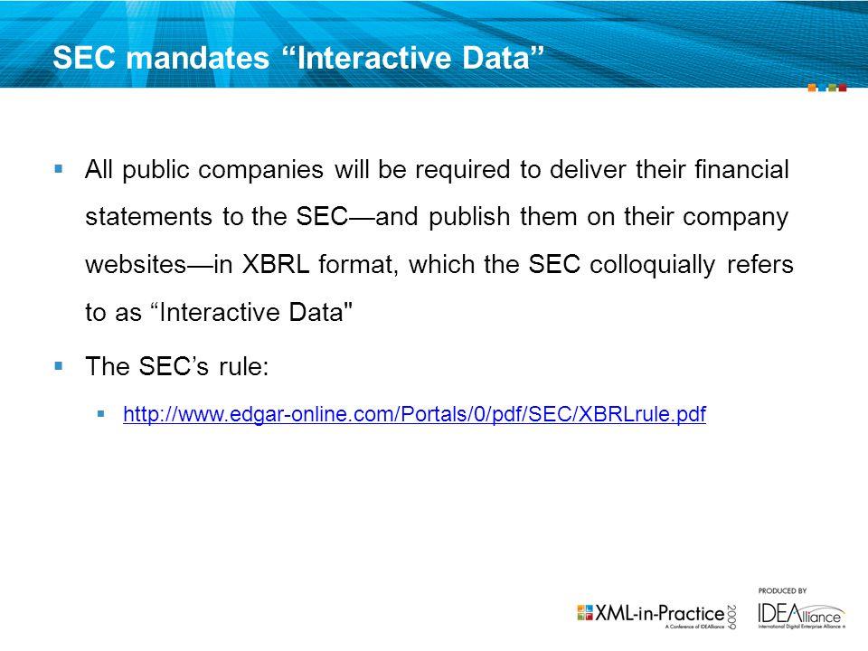 SEC mandates Interactive Data