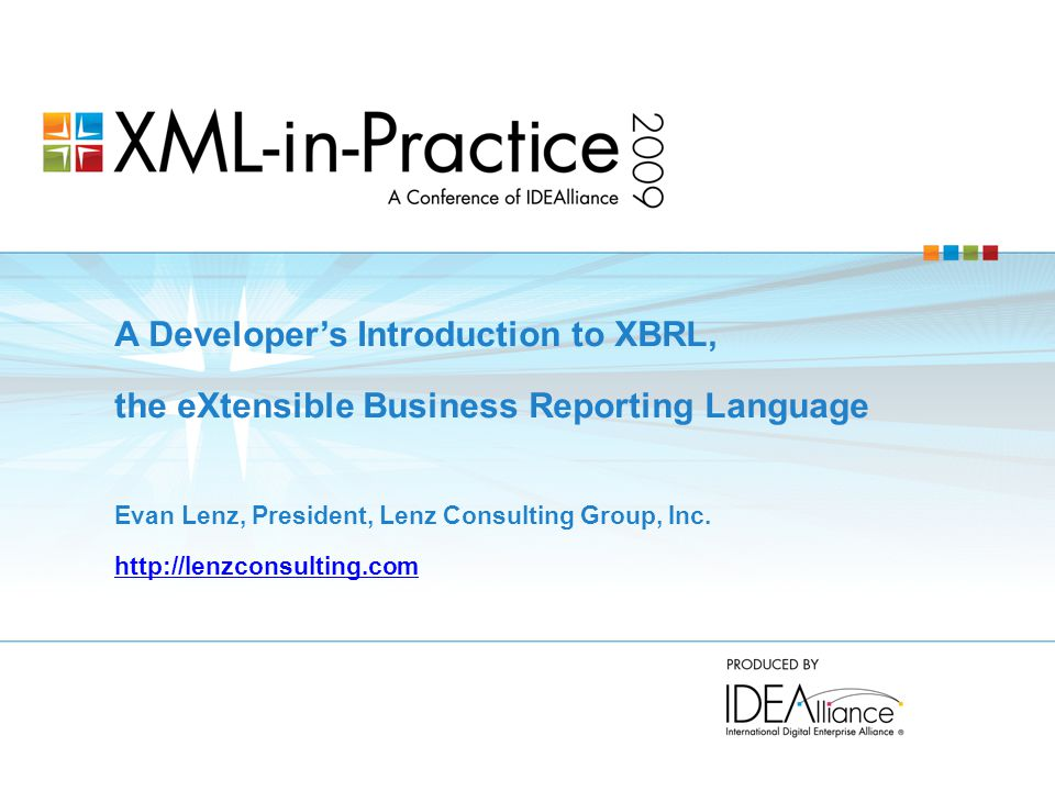 A Developer's Introduction to XBRL,