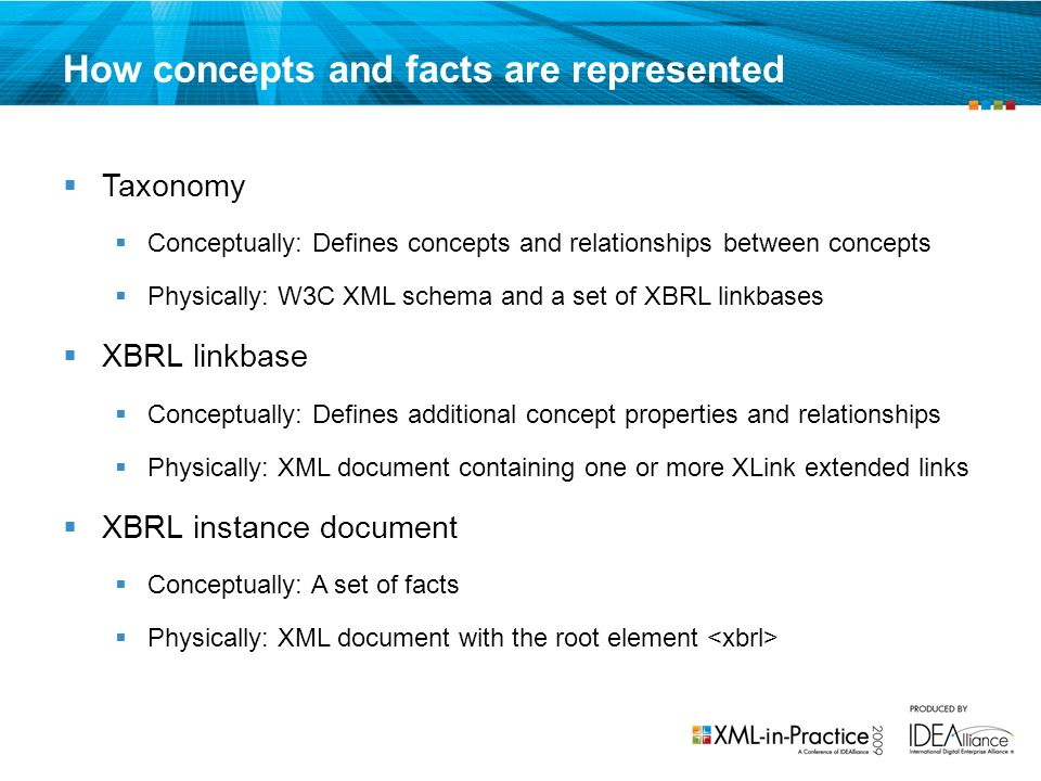 How concepts and facts are represented