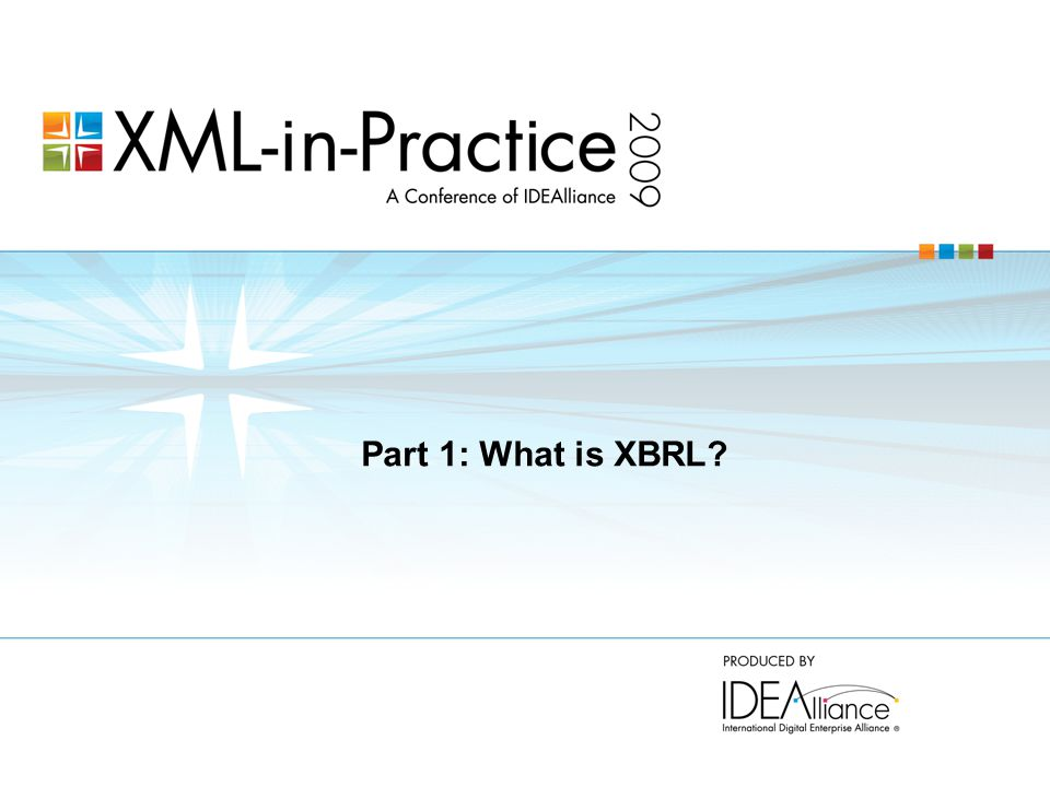Part 1: What is XBRL