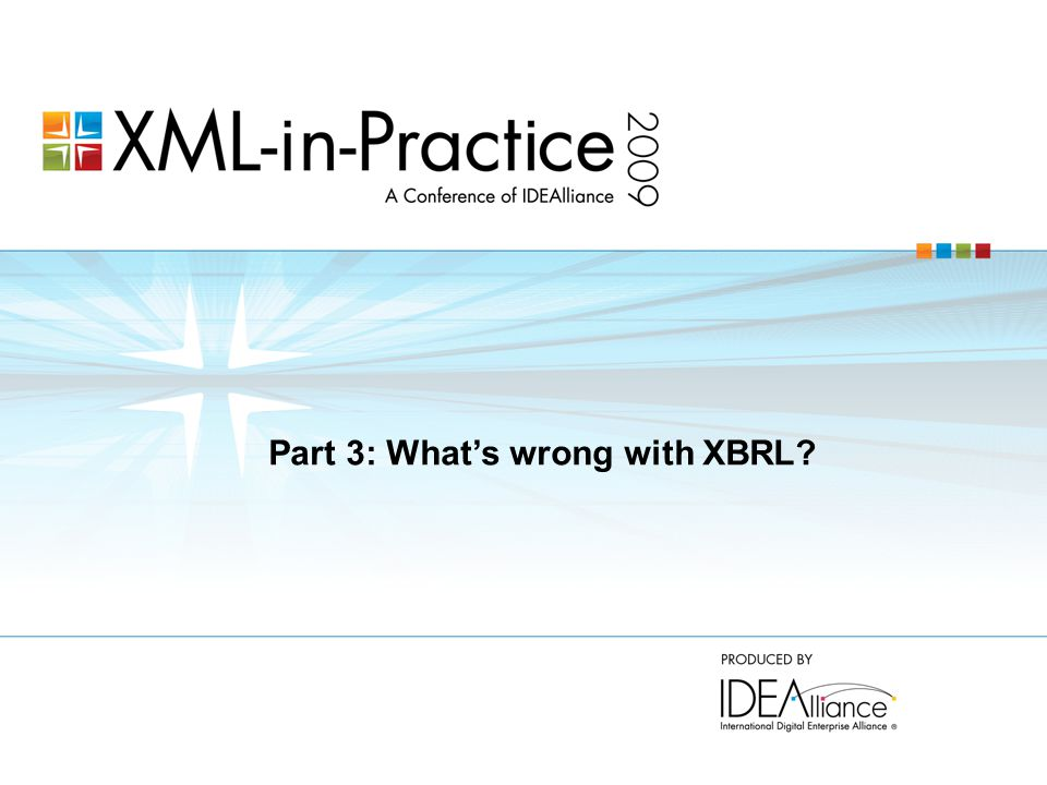 Part 3: What's wrong with XBRL