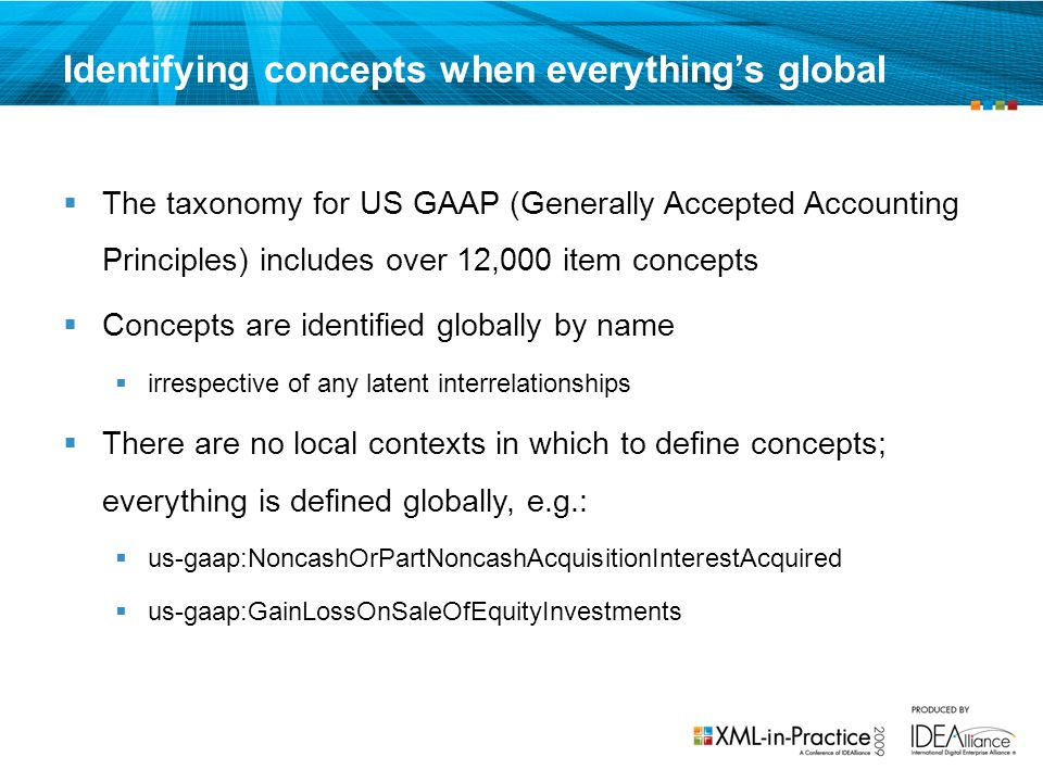 Identifying concepts when everything's global