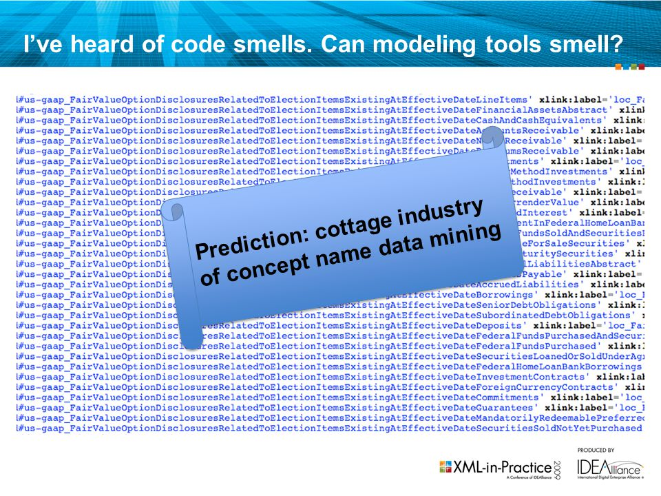 I've heard of code smells. Can modeling tools smell