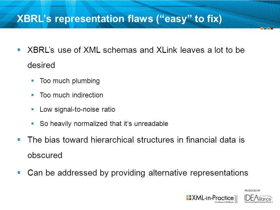 XBRL's representation flaws ( easy to fix)