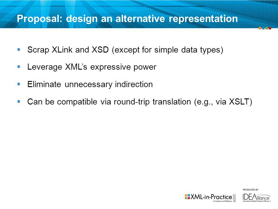 Proposal: design an alternative representation