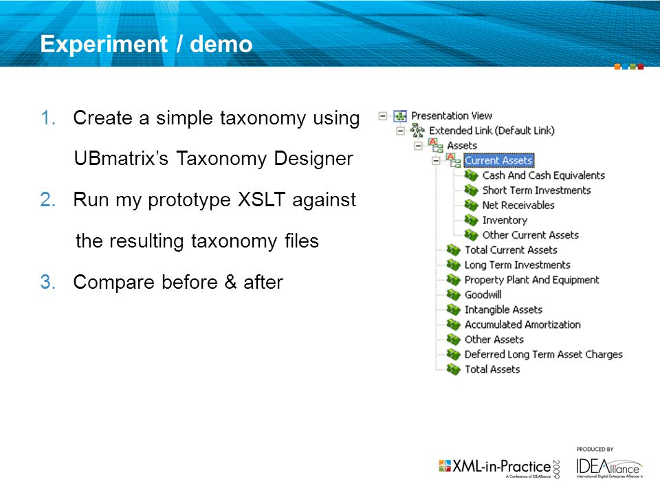 Experiment / demo Create a simple taxonomy using