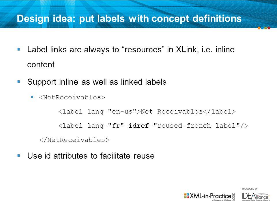 Design idea: put labels with concept definitions