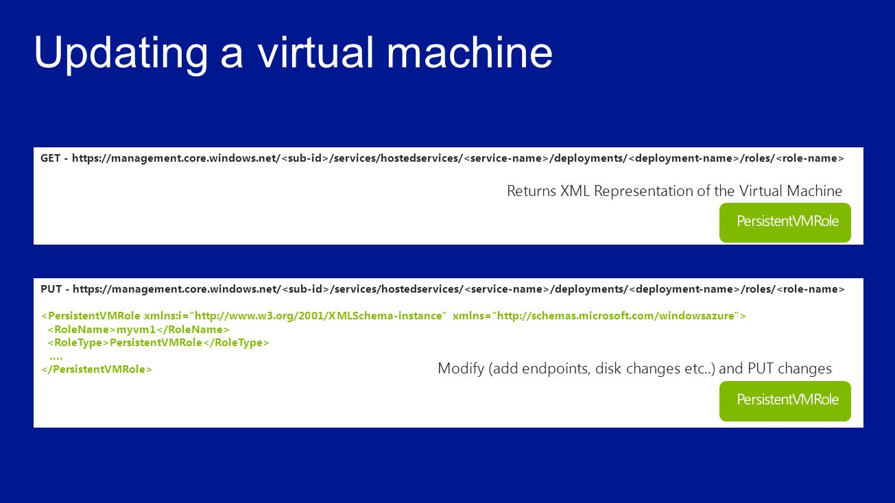 Updating a virtual machine