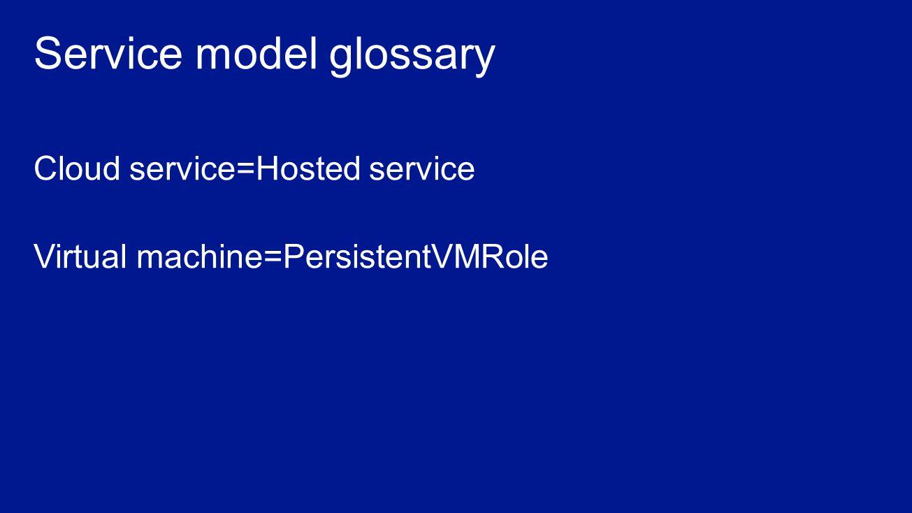 Service model glossary