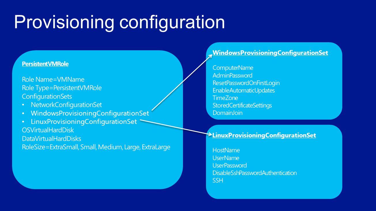 Provisioning configuration