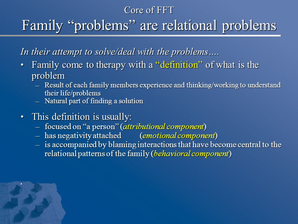 Core of FFT Family problems are relational problems